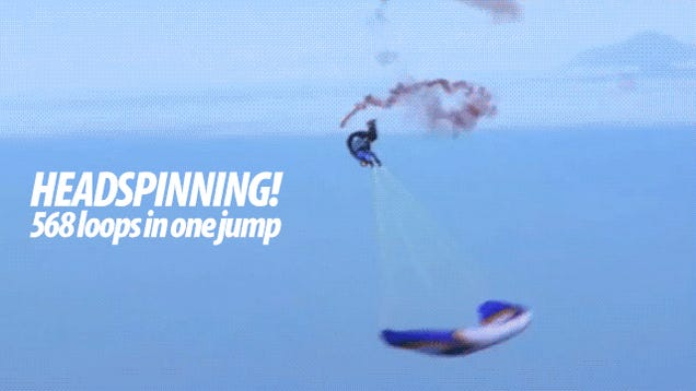 This Record-Breaking Spinning Jump Is Even Crazier Than Felix Baumgartner's Space Fall