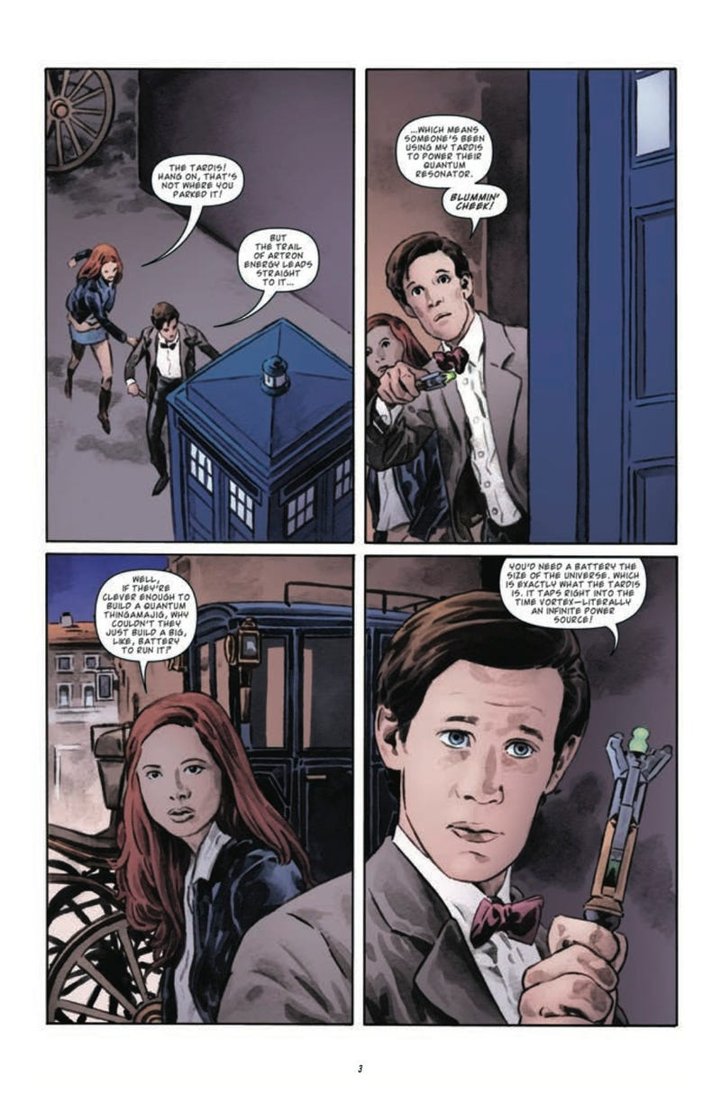 Read an exclusive sneak peek of this week's issue of Doctor Who — and more!