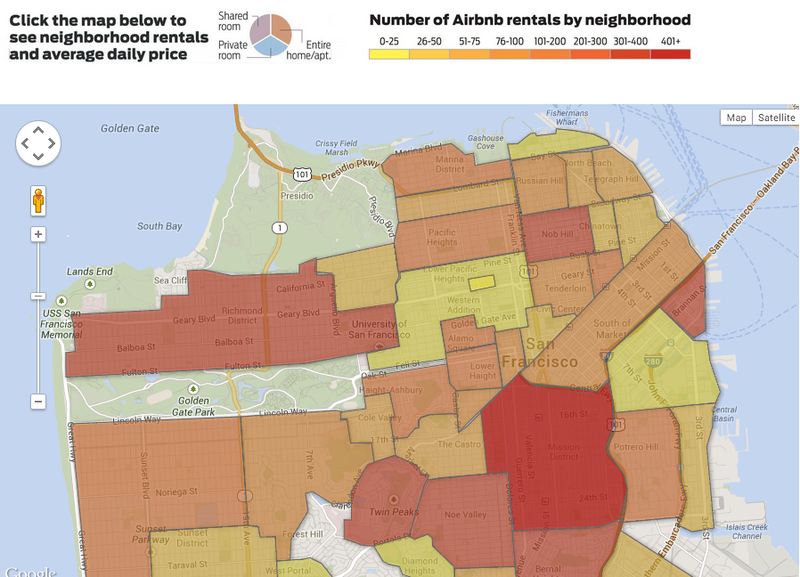Damning Analysis Shows Airbnb's Impact on San Francisco Housing