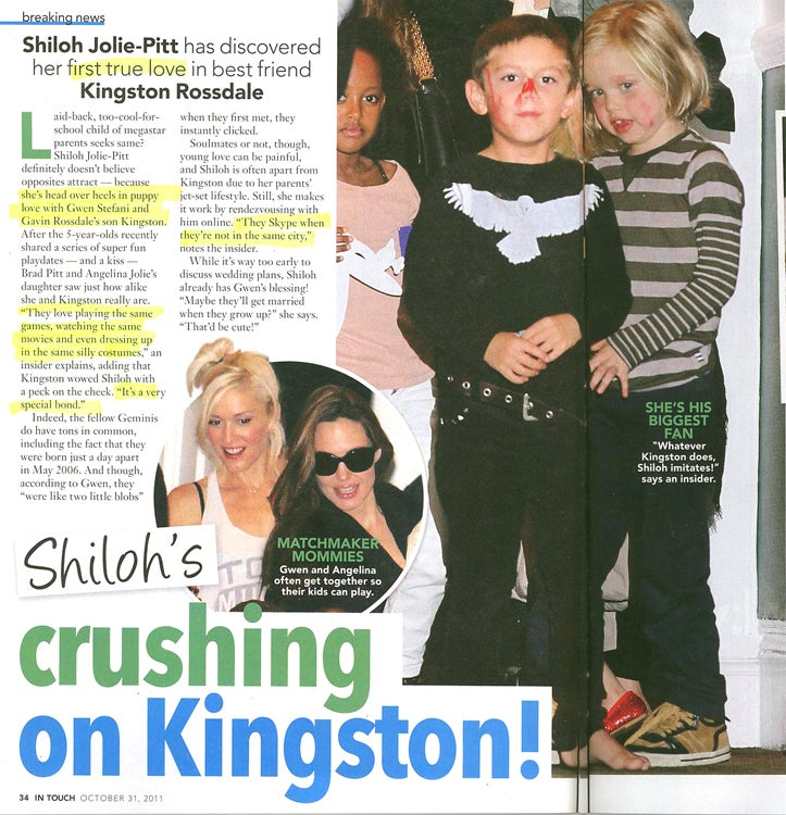 This Week In Tabloids: Budding Lovebirds Shiloh & Kingston Skype To Keep Relationship Alive
