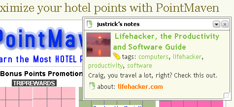 Paste notes on web pages with Stickis