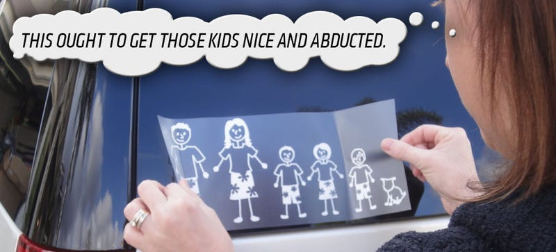 Those Stupid Stick Figure Family Stickers Aren't Putting You In Danger