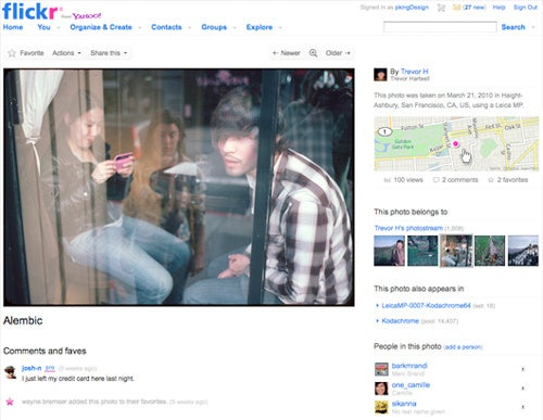 Flickr Spruces Up With Black Background and Larger Images