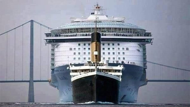 The Titanic Was Ridiculously Tiny Compared To Modern