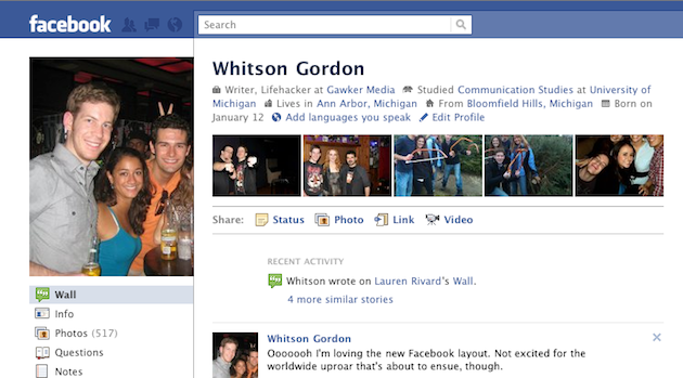 Activate the New Facebook Profile Layout with Featured Friends, Infinite Photo Scrolling