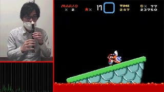 Man Plays <i>Super Mario World</i> with His Nose