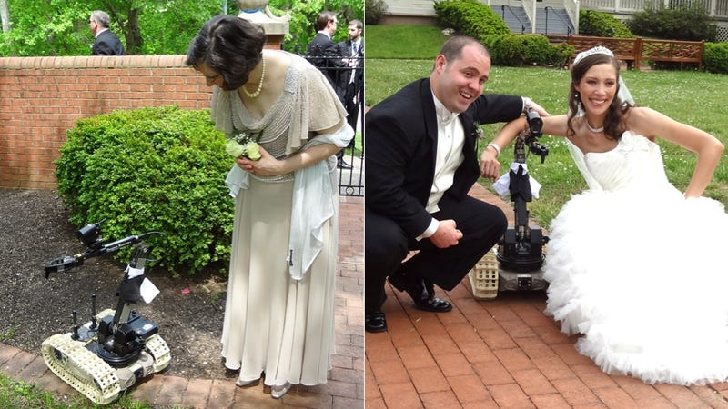 Warzone Robot Makes Wedding Super Cute
