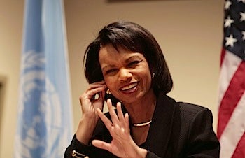 Arab Leaders Shower Condoleeza Rice With Gifts, Have Obvious Crush