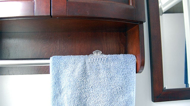 Keep Towels in Their Place with a Hair Clip