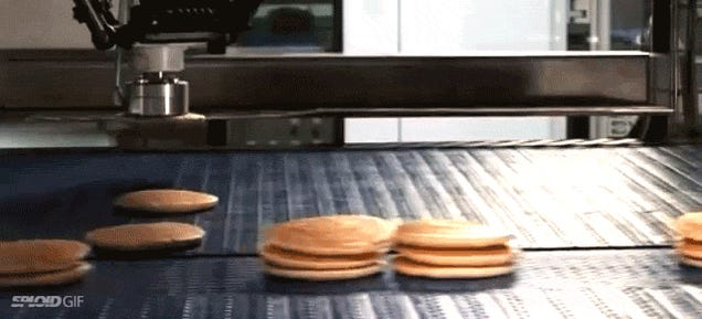A magic pancake stacking robot machine is why technology exists