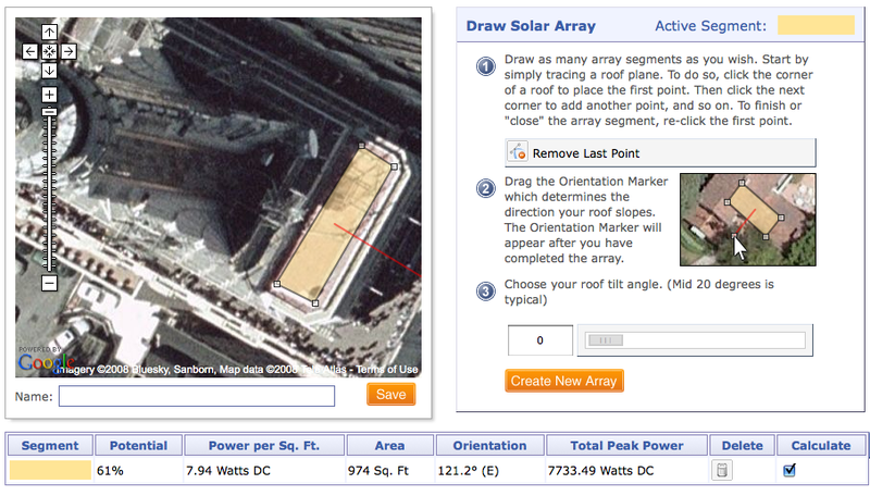 Test Drive a Solar Array's Wattage Before You Build With RoofRay Google Maps Calculator