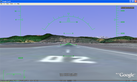 Flight Simulator in Google Earth 4.2