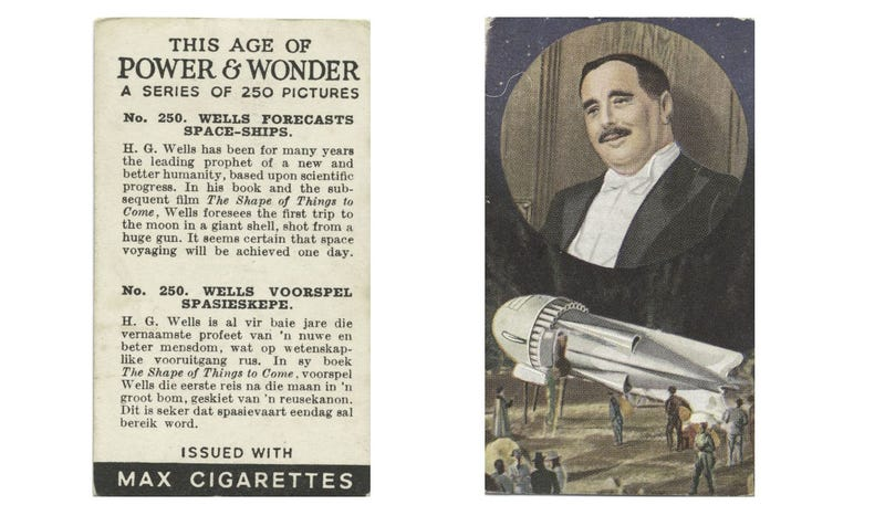 In the 1930s, cigarette packs predicted the future