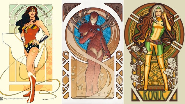 Batman Art Nouveau The Legion of Art Nouveau