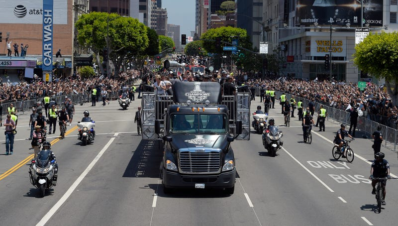 LA Kings Paraded The Stanley Cup Around With A Badass Armored Motorcade