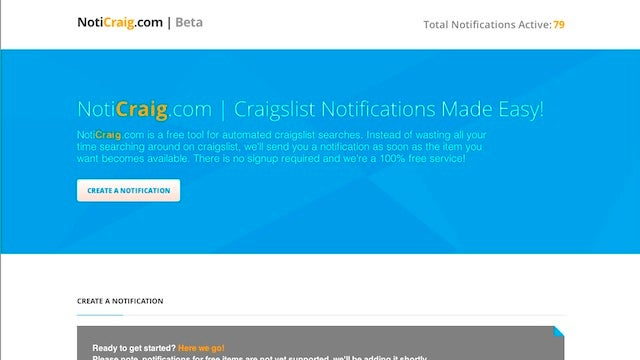 NotiCraig Sends You Email When Items You Want Appear on Craigslist