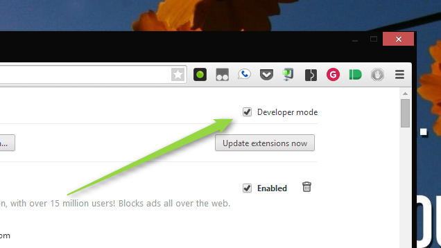 Install Chrome Extensions from Outside the Store with Developer Mode