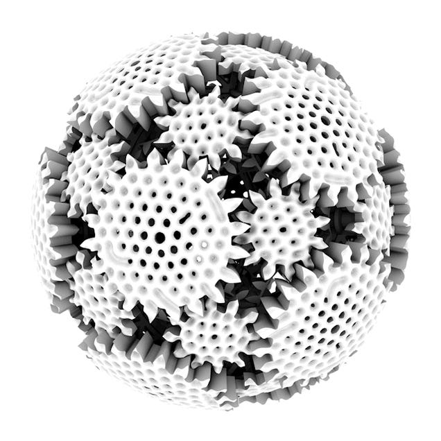 Mind-Boggling Spherical Gear Made from 3D-Printed Moving Parts