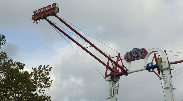 Cable Snaps on 60 MPH Amusement Park Ride
