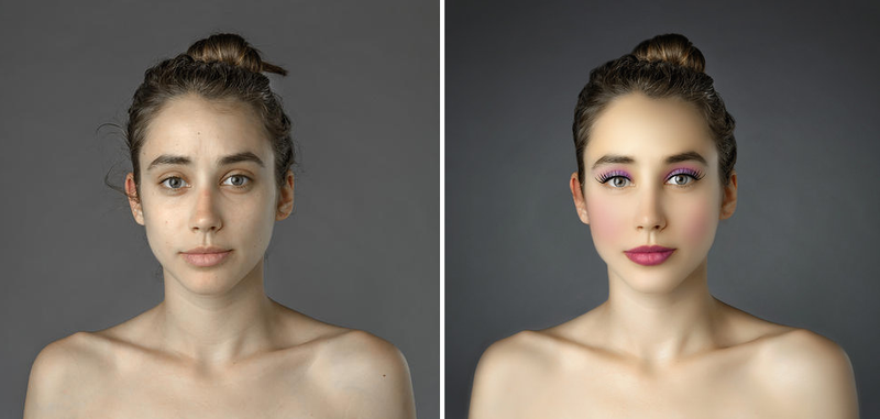 Woman photoshopped to fit the definition of beauty in 25 countries