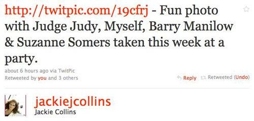 Jackie Collins & Judge Judy Are Homies
