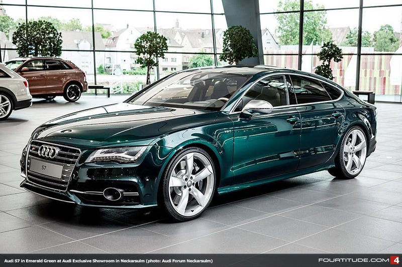 Emerald Green Audi S7