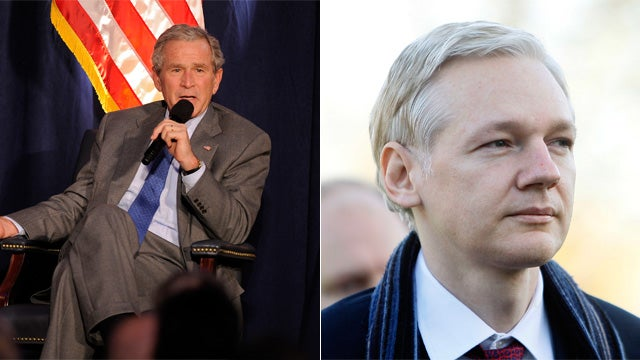 Julian Assange Scares George Bush Away from Speaking Gig