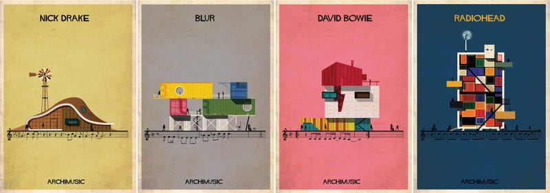 Imagining Famous Music as New Architectural Designs