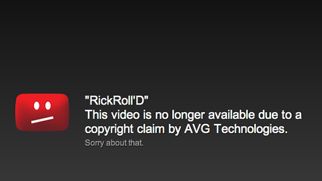 The Original RickRoll'd YouTube Video Has Been Taken Down
