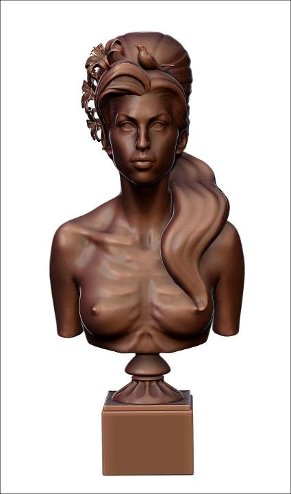 Amy Winehouse Memorialized With Topless Bronze Bust