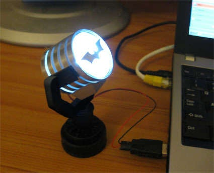 Make Your Own USB Batman Spotlight When You Should Be Working