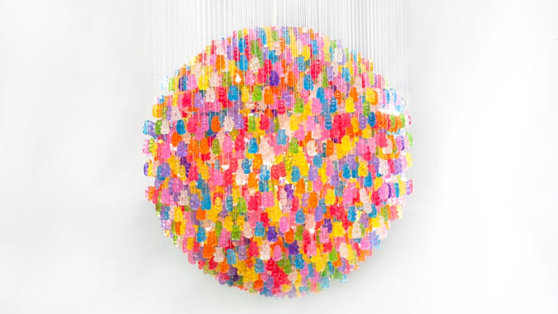 I Want to Eat This Awesomely Yummy 3,000 GummyBear Lamp So Badly