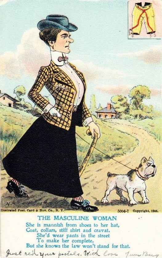 Old Cartoon Depicts Suffragettes as Saw-Toothed Crones