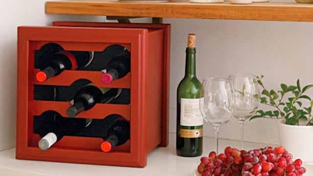 Hack an Old Wooden Planter into a Sturdy, Homemade Wine Rack