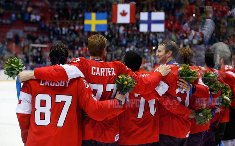 Canada's Men's Hockey Team Celebrates Second Straight Gold