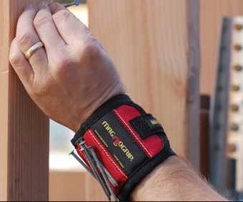 MagnoGrip Holds Extra Nails, Screws, and More to Your Wrist