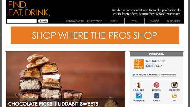 """""""Find. Eat. Drink."""" Offers Recommendations Around the World from Food Professionals"""