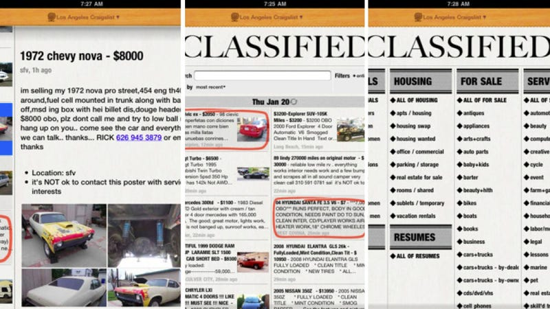 Lifelike Craig Turns Craigslist Into Your Local Classifieds
