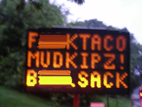 "Sign Hackers At It Again, What's A ""F*** Taco?"""
