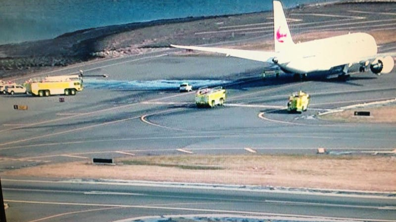 Another Japan Air Boeing 787 Dreamliner Surrounded By Emergency Crews At Logan Airport