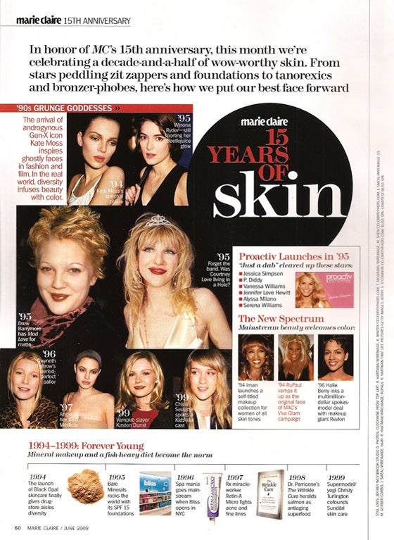 Marie Claire: 15 Years Of Good Skin; 2 Black Women