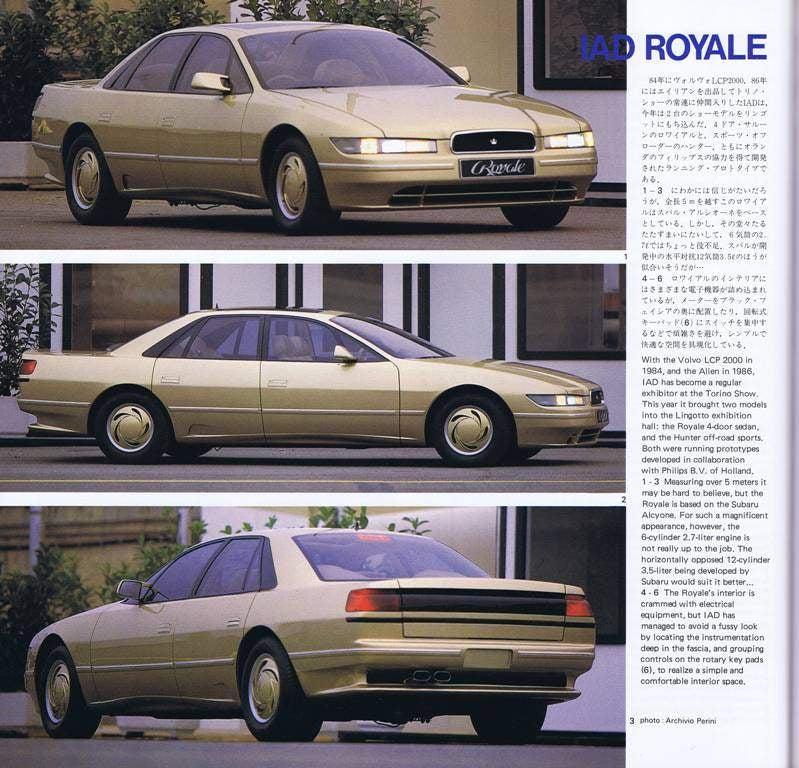 The 1988 IAD Royale: The Forgotten Subaru Luxury Concept