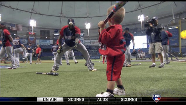 David Ortiz's Nephew Hit Him In The Dick With A Baseball