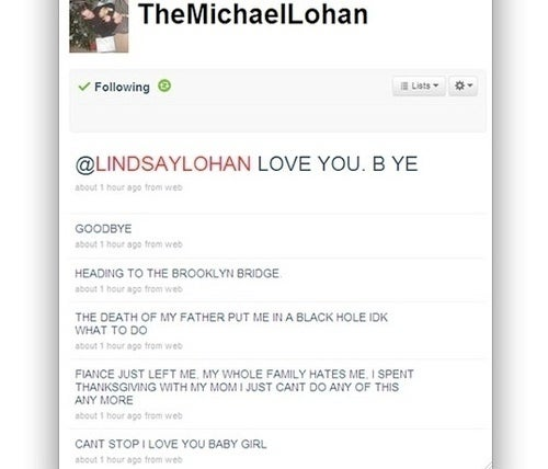 Michael Lohan Safe after His Twitter Impersonator Fakes Suicide (Updated)