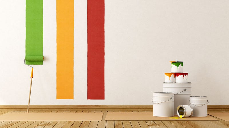 "Paint a Wall Faster by Starting on the Side of Your Non-Dominant Hand and Moving 3"" at a Time"