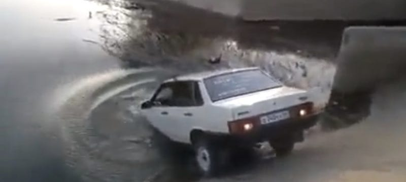 Drunk Russian Man Proves It Is Impossible To Drive While Drunk