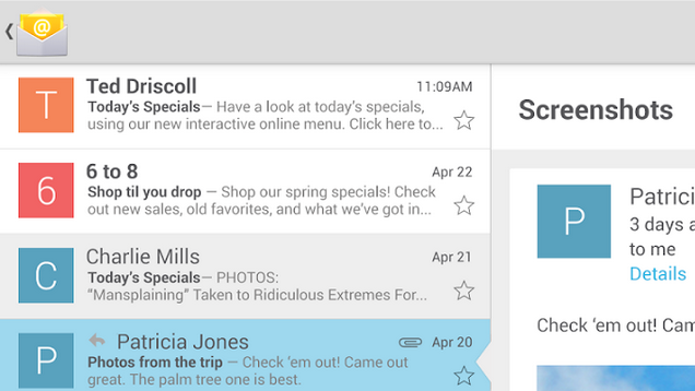 Android's Stock Email App Arrives on the Play Store