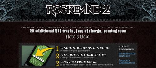 Rock Band 2 Bonus Tracks Reg Live