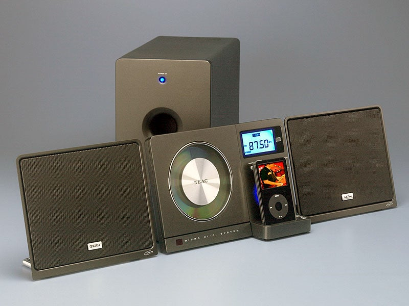 Teac's Wall-Mounted iPod Dock with CD Player Has Sub, NXT Speakers