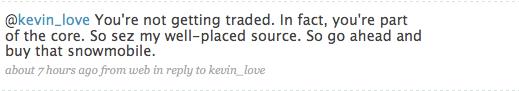 Ric Bucher Assures Kevin Love He's Not Trade Bait, Via Twitter